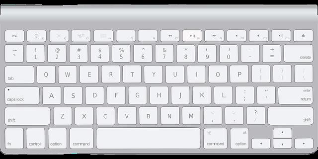 kreslená klávesnice