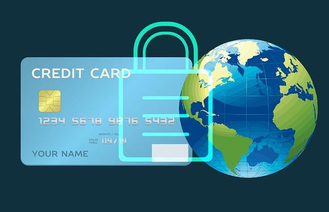 obrázek kreditní karty a Zeměkoule